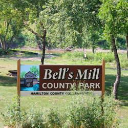 Bells Mill Park Sign