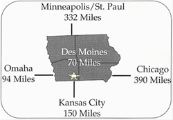 Regional location of Three Mile Lake Recreation Area