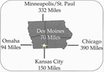Regional location of Three Mile Lake Recreation Area - Location of Three Mile Lake