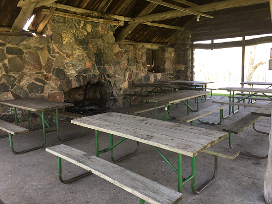 South Shelter - picnic tables