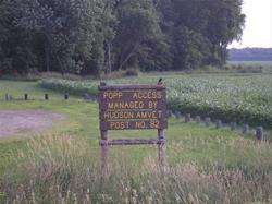 Sign marking park entrance