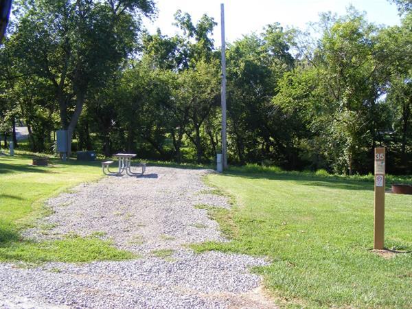 Marion County Park, Campsite #35 -No Image