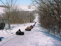 Tubing in the winter