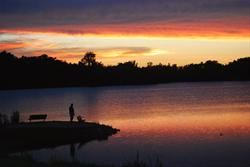 Enjoy beautiful sunsets over Otter Creek Lake