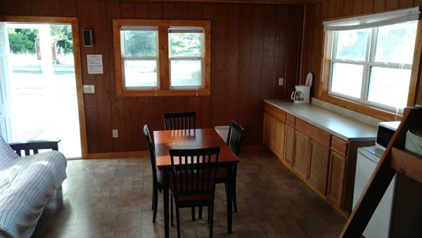 inside view of 320 sq ft cabin 2