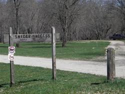 Snyder Access Sign