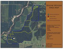 Boone Woods Trail Map