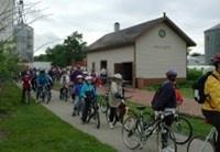 Bikers at Redfield Depot