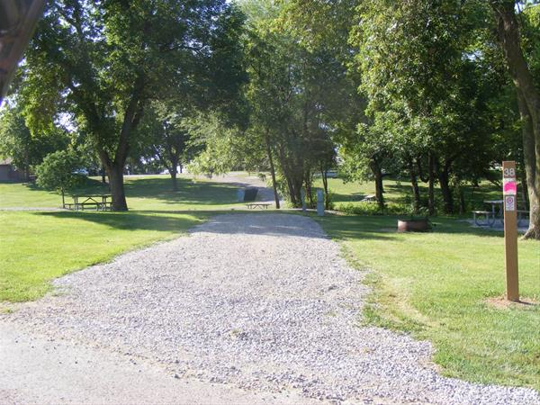 Marion County Park, Campsite #38 -No Image