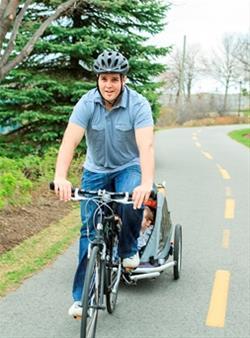 biking along the CVNT
