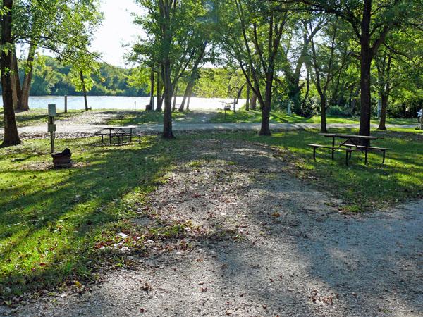 Bentonsport Campground site 10 -No Image