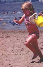 Fun at the swimming beach