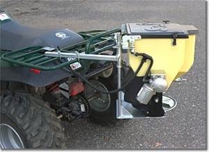 ATV Slinger grass seeder