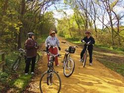 Biking along the Recreation Trail between Spragueville & Z34