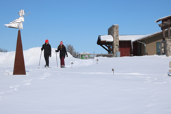 Winter snowshoeing and cross country skiing