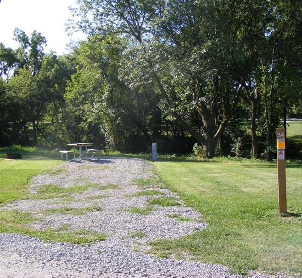 Marion County Park, Campsite #34 -No Image