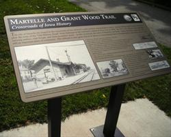 Grant Wood Trail Interpretive Sign Martelle Trail Head