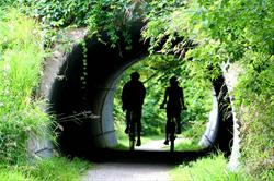 Tunnels & Bridges are encountered on many trails.