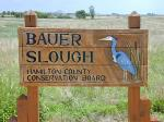 Bauer Slough Sign