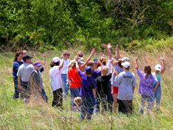 Prairie education at Wickiup Hill Outdoor Learning Center - Linn County, IA