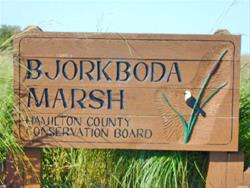 Bjorkboda Marsh Sign