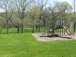 Playground equipment at West Idlewild Campground