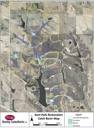 Kent Park Lake Restoration Map