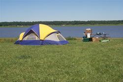 Camp along the shore of Saylorville Lake