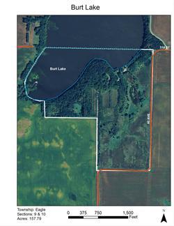 Burt Lake Map