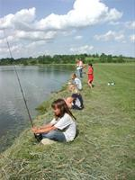 Great kids fishing at Otter Creek Lake