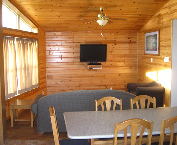 Falcon Cabin - Living Room