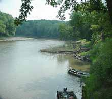 On the river at Mac Coon Access