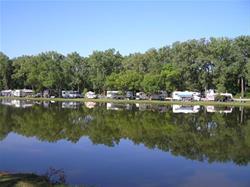 Camping along Spring Lake