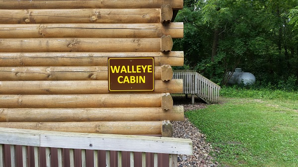 Walleye sign Cabin 3