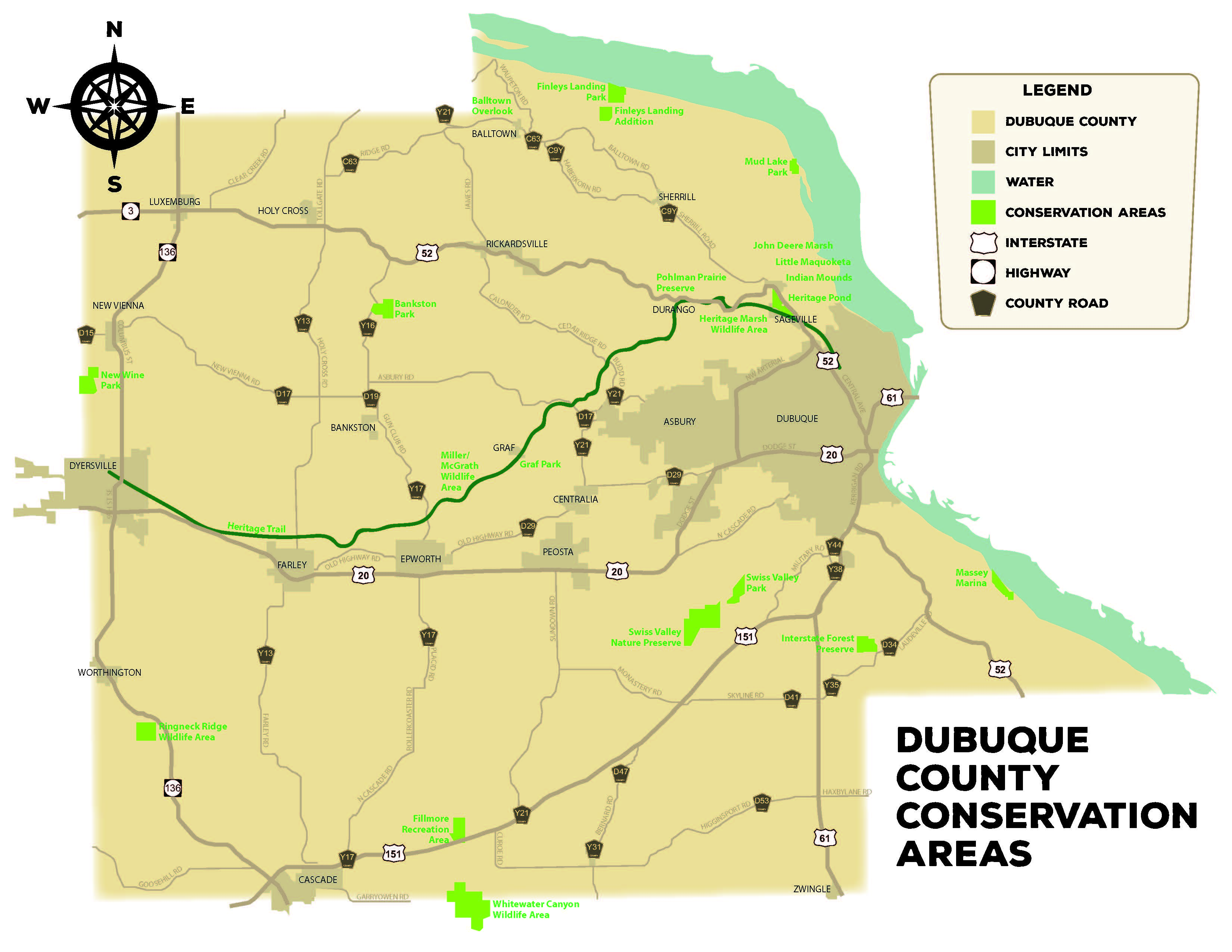 County Parks in Dubuque County, Iowa on