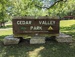 Cedar Valley Entrance Sign