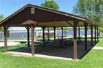 Picnic shelter, available for reservations