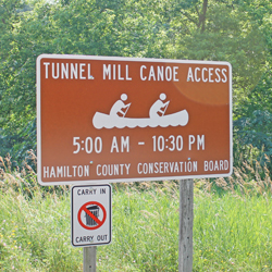 Tunnel Mill Access Sign