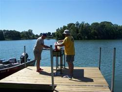 Fish cleaning station located near north boat ramp is within easy access to campground.