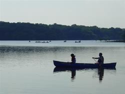 Canoeing Lake Red Rock