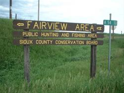 Entrance Sign at Fairview Area