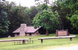 Shelter House made by the CCC at Echo Valley State Park