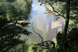 View of the Maquoketa River from Buzzard Ridge Wildlife Area