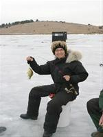 Ice Fishing Crawford Creek Lake