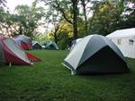 Tent camping section at Otter Creek Lake & Park