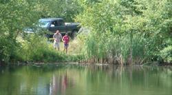 Fishing at Round Prairie Park