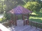 Gazebo attached to back deck