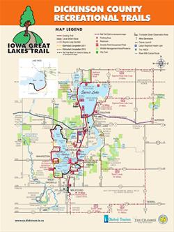 Iowa Great Lakes Trails Map