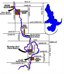Canoe Trail map