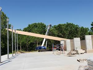 Wapsi Bluff construction